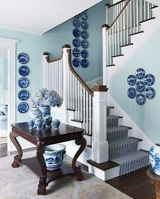 #Cocoscollection I love the Yarmouth Blue wall color from Benjamin Moore paints. #HC-150. Soft and clean.