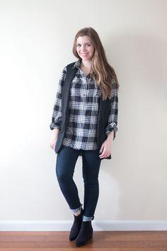 Stitch Fix January 2016: Brixon Ivy Pirie Cutout Tuxedo Vest // hellorigby seattle fashion & style blog