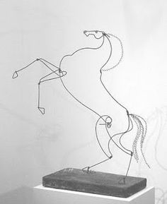 Alexander Calder wire sculpture. Calder's Circus was a miniature reproduction of an actual circus, and is considered to be the start of his lifelong interest in both wire sculpture and kinetic art.