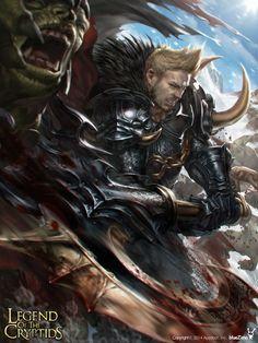 Artist: Shin Dong Wook aka bluezima - Title: 001-2 - Card: Mordos, Mighty Commander (Strategy)