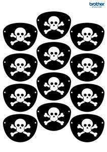 Create, customize and print custom party decorations. Leverage Brother Creative Center's party decorations templates for Pirates Eye Patch. Pirate Party Games, Pirate Party Decorations, Pirate Activities, Birthday Activities, Kids Party Games, Birthday Games, Birthday Parties, Pirate Day, Pirate Birthday