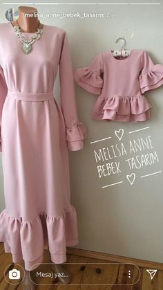Mother and daughter - Planned Parenthood Mommy Daughter Dresses, Mother Daughter Matching Outfits, Mother Daughter Fashion, Mom Dress, Baby Girl Dress Patterns, Baby Girl Dresses, Baby Dress, Abaya Fashion, Muslim Fashion