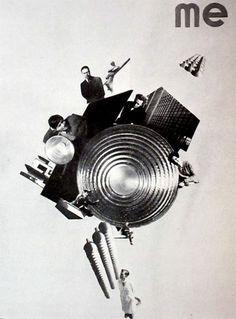 """László Moholy-Nagy """"Me"""" Photomontage 1925"""