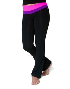 Stretchy fabric and a wide waistband promise movable comfort during an active workout, while a sweet stripe adds a pop of color. Yoga Pants Girls, Pink Yoga Pants, Jack And Jill, Fall Collections, Color Pop, Capri Pants, Pajama Pants, Yoga Dance, Knitting