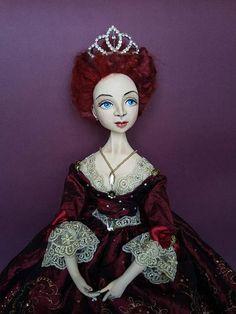 ooak-art-doll-dark-red-queen-handmade