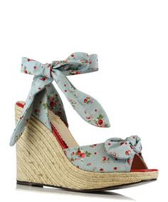 Look at this Blue Floral Melissa Espadrille on #zulily today!