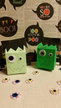 frankenstein milk carton halloween treat holders - Halloween Treat Holders
