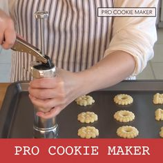 Have the best treats at the Christmas party! Make the perfect holiday cookies this season with the Pro Cookie Maker! Surprise your family and friends with perfectly shaped delicious cookies. Making cookies has never been simpler. Quick Easy Desserts, Quick Easy Meals, Easy Dinner Recipes, Gourmet Recipes, Cookie Recipes, Dessert Recipes, Easy Recipes, How To Make Cookies, Making Cookies