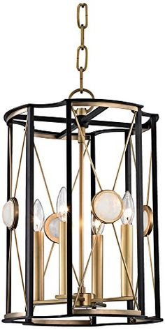 Hudson Valley Lighting 2213-AGB Cresson 4 Light Pendant,A...