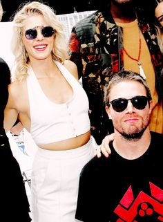 Stephen & Emily at #SDCC2017 #Arrow