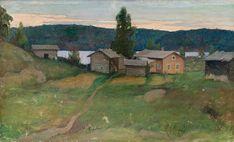 Halonen, Pekka - House in Kivesjärvi Landscape Paintings, Painter, Painting, Illustration Art, Artwork, Nature Inspiration, Art Business, Scandinavian Art, Romanticism Paintings