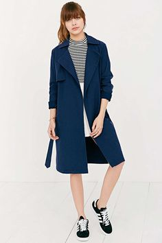 Shades Of Grey By Micah Cohen Lightweight Trench Coat