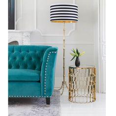 Nightingale Teal Blue Velvet Sofa | Designer Sofa by The French Bedroom Company. Velvet Glamour!
