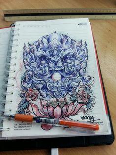 หนุมาน เครดิตพี่ ป๊อง นะโมครับ  sketch by nong