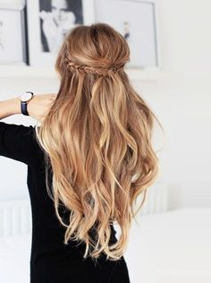 Fishtail Braided Half Updo - 101 Braid Ideas That Will Save Your Bad Hair Day (Photos)
