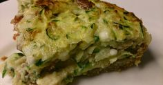 Quiche with zucchini and bacon