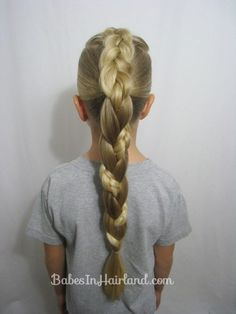 French Braid to a Braided Ponytail Video