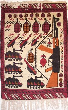 Drones, AK-47s and grenades: Afghan war rugs | Art and design | The Guardian