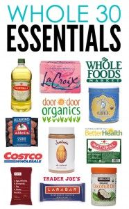 whole 30 essentials. What to get. Where to shop.