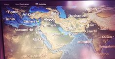 Can you spot the missing country/city? clue: taken on a Qatar Air flight