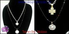 TWO-IN-ONE Necklace .. $12.00 + FREE SHIPPING ... Available now in our store: http://www.makeupbybrenda.com/…/two-in-one-nec…/lid=45314158