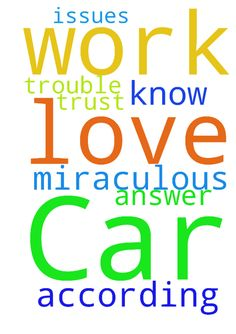 Car trouble -  Father God, You know all the issues im having with my car. I ask you to do miraculous work on it. In Jesus Christ answer my prayer according to the will of God. Lord, i need you, i thank you, i trust you, i love you. In Jesus Christ Name I Pray Amen  Posted at: https://prayerrequest.com/t/nwY #pray #prayer #request #prayerrequest