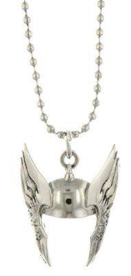 Superhero Thor Silver Tone Cut Out Helmet Pendant Necklace 3079:Amazon:Jewelry