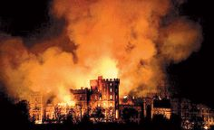 The 1992 Windsor Castle fire occurred on Friday, 20 November 1992 in Windsor Castle, west of London, the largest inhabited castle in the world and one of the official residences of the British monarch, Queen Elizabeth II. The castle suffered severe damage in a fire, and was fully repaired within the next few years at a cost of £36.5 million