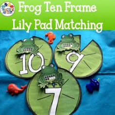 This resource contains a fun ten frame matching game where students have to match the ten frame (frog) to the number (lilypad).The frogs…