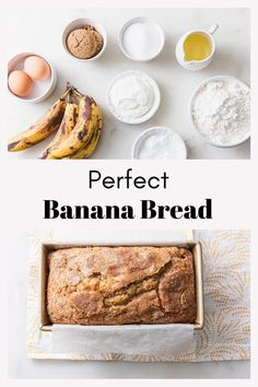 Bananas gone brown? Make banana bread! With these tips, this recipe is guaranteed to stay moist and tender. Baking Recipes, Snack Recipes, Dessert Recipes, Snacks, Make Banana Bread, Banana Bread Recipes, Sour Cream Banana Bread, Puff Pastry Recipes, Sweet Recipes
