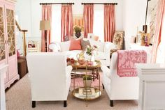 Pink and Gold and White...love!