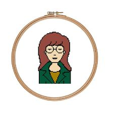 Daria - I'm overcome with emotion - Cross Stitch Pattern Instant Download