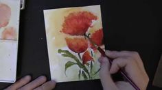 """Penny Black's """"Loose Watercolor Effect with Brushstroke Stamps"""" Available at addictedtorubberstamps.com"""