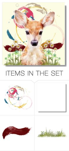 """oh deer"" by art-gives-me-life ❤ liked on Polyvore featuring art, contestentry and fortheloveofnatureandanimals"