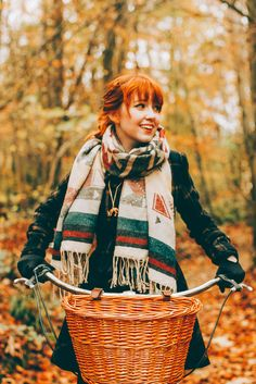Fall style in a big wrapped scarf. // via A Clothes Horse