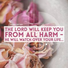 """#OurProtector #TrustinHim #faith  """"The Lord will keep you from all harm— he will watch over your life..."""" - Psalm 121:7 NIV"""