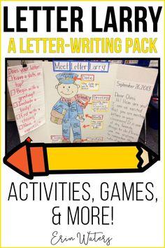 How To Produce Elementary School Much More Enjoyment A Letter-Writing Unit Featuring Letter Larry, Who Teachers The Parts Of A Letter. Incorporates Games, Activities, And Templates. Guided Reading Activities, Writing Activities, Letter Games, Kindergarten Games, Fun Songs, Writing Workshop, Creative Teaching, Word Families, Letter Writing