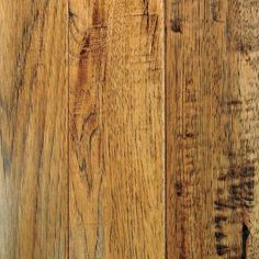 Mullican Flooring | 5 Inch Hickory Saddle Hand Sculpted 3/4 Inch Solid Hardwood Flooring | Home Depot Canada