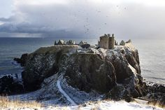 """It might look like a CGI set from Game of Thrones, but this is actually Dunnottar Castle, a ruined medieval fortress on a well-defended headland near Stonehaven in Aberdeenshire. Its Scottish Gaelic name is Dùn Fhoithear, or """"fort on the shelving slope"""". Oh The Places You'll Go, Places To Travel, Places To Visit, Medieval Fortress, Excursion, Scottish Castles, England And Scotland, Scotland Travel, Scotland Trip"""