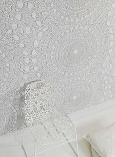 Doily wallpaper #DimareDesign #Wallpaper