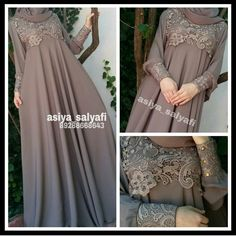 I love asiya Abaya Fashion, Modest Fashion, Fashion Dresses, Moslem Fashion, Dress Brokat, Mode Abaya, Modele Hijab, Hijab Trends, Abaya Designs