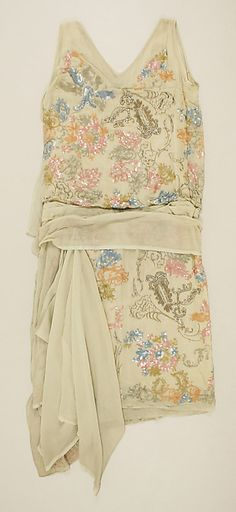 Dress (image 2 - back) | House of Worth | French | 1925 | silk, sequins, glass | Metropolitan Museum of Art | Accession Number: C.I.58.67.17