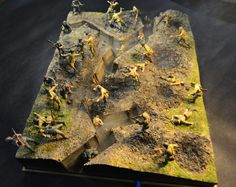Dioramas and Vignettes: Penal battalion. The Breakthrough, photo Military Armor, Military Figures, Military Diorama, Small Soldiers, Green Army Men, Tilt Shift Photography, Model Maker, Model Hobbies, Military Modelling