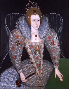ab. 1590 English School - Portrait of Queen Elizabeth I
