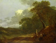 Thomas Gainsborough (1727-1788) Wooded Landscape with a Man Talking to Two Seated Women c. 1745. Oil on panel. 27,9 x 36,8 cm. Yale Center for British Art, Paul Mellon Collection, New Haven, Connecticut. B1981.25.303.