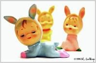I still have one of these .... creepy rabbit face.