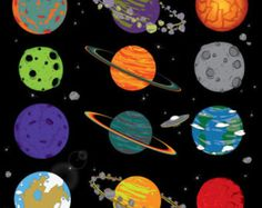Cartoon Planets In Outer Space Digital Clip Art Vinyl Crafts, Paper Crafts, Rocket Design, Diy Party Supplies, Art Clipart, Clips, Creative Logo, Outer Space, Embroidery Patterns