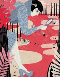 Vintage-Inspired Illustrations by Gosia Herba Are Sorta Dark... And I like It