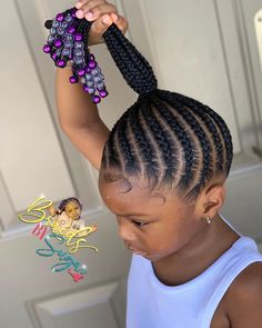 Toddler Braided Hairstyles, Cute Hairstyles For Kids, Girls Natural Hairstyles, Baby Girl Hairstyles, Infant Hairstyles, Children Hairstyles, Little Girl Braid Styles, Little Girl Braids, Braids For Kids