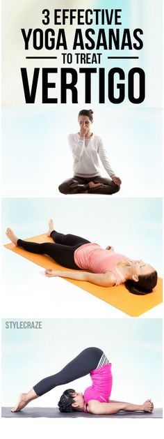Yoga Asanas That Will Help You Deal With Vertigo Did you know that performing certain yoga poses can help you overcome vertigo?Did you know that performing certain yoga poses can help you overcome vertigo? Yoga Meditation, Yoga Inspiration, Yoga Position, Vertigo Exercises, Mudras, Yoga Posen, Yoga Routine, Yoga Sequences, Physical Therapy